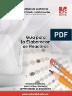 Guía de elaboración de reactivos y banco de reactivos