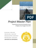 Project Master Plan - Pengembangan Desa Wisata Minapolitan Di Nagakeo NTT