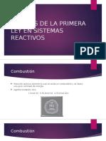 Analisis de La Primera Ley en Sistemas Reactivos