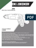 Manual Destornillador 90600008,LI2000