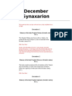 December Synaxarion