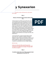 May Synaxarion
