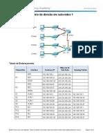 Atividade 9 - 9.1.4.6 Packet Tracer - Subnetting Scenario 1 Instructions