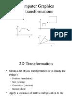 COMPUTER GRAPHICS 2D Transformations