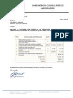 Datos Para Factura H&H Proyecto El Morro