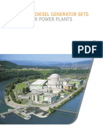 Emergency Diesel Generator Sets for Nuclear Power Plants