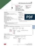 D6 Keyswitch Datasheet