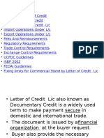 4. Letter of Credit for International Banking