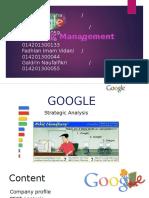 Google strategy management