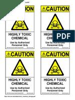 Toxic Chemical Storage
