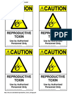 Reproductive Toxin Storage