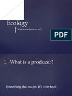 Ecology_what Do We Know So Far