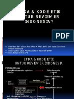 Etika Dan Kode Etik Reviewer