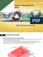 ANSYS HFSS Antenna W06 1 Optimetrics