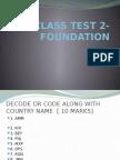 Foundation Test-1 Ppt