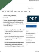 UPSC GS Paper 3 Mains 2015