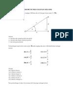 Perbandingan Trigonometri Pada Segitiga Siku
