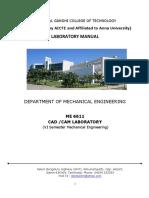 Cad/Cam Manual