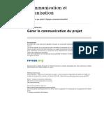 Communicationorganisation 2022 13 Gerer La Communication Du Projet