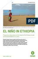 El Niño in Ethiopia: Programme observations on the impact of the Ethiopia drought and recommendations for action