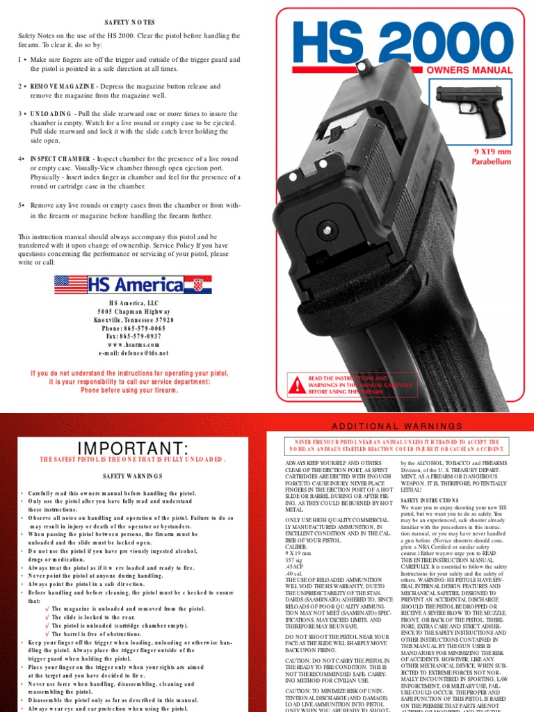 Hs2000 Handgun Trigger Firearms Schematic Cutaway Showing Slide Cycle And Case Ejection