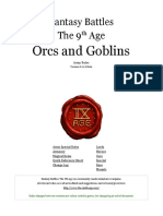 The Ninth Age Orcs and Goblins 0 11 0