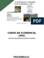 Carta de Florencia 1982