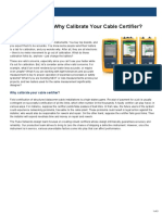 Application Note Why Calibrate Your Cable Certifier -161053-6003539