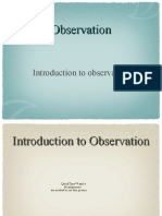observation-introduction