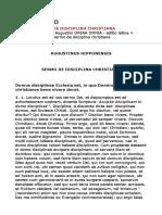 Sant'Agostino - La Disciplina Cristiana (LT)