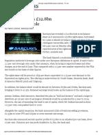 Barclays reveals £12.8bn balance sheet hole - FT