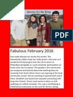 Qu4King Feb 2016 Newsletter
