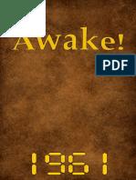Awake! - 1961 issues