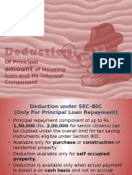 Deduction of Housing Loan Repayment and Interest