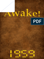 Awake! - 1959 issues