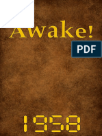 Awake! - 1958 issues