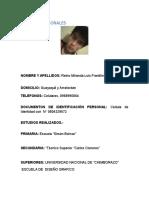 Datos Personales Luis