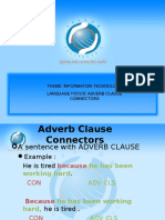 Chapter 6 - Adverb Clause Connectors