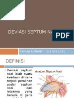 Deviasi Septum Nasi - Annisa Aprianti