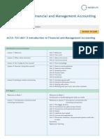 Course Map FA1 MA1