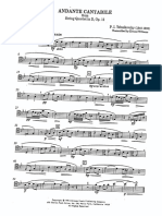 Andante Cantabile From String Quartet in D