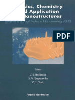 Chemistry, physics and application of nanostructures
