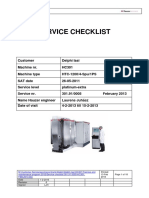 Service Checklist & Customer Maintenance List 301.91.0005-HC301, FEB.2013