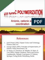 6.0 Ionic Polymerization 2015