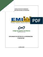 Diplomado en Gestion de La ion y Proyectos