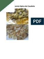 Gastronomía típica de Caudete