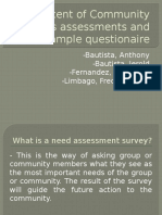 Community Needs Assessments and Sample Questionaire