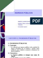 Tema 2. Ingresos Públicos