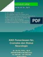 Kuliah KKD Nn. Craniales Dr. an an, M.sc., Sp.S