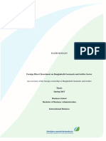 FDI on Bangladeshi Garments and Textiles